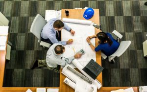 group of engineers in a meeting