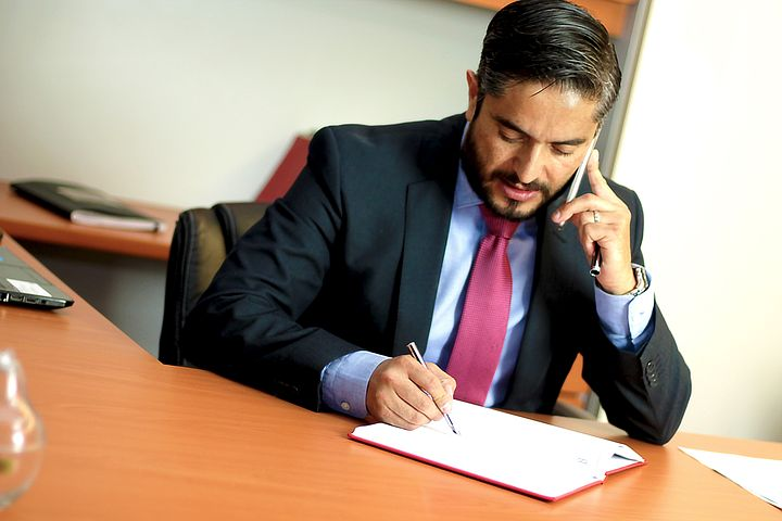 family lawyer in Sydney talking to a client over the phone