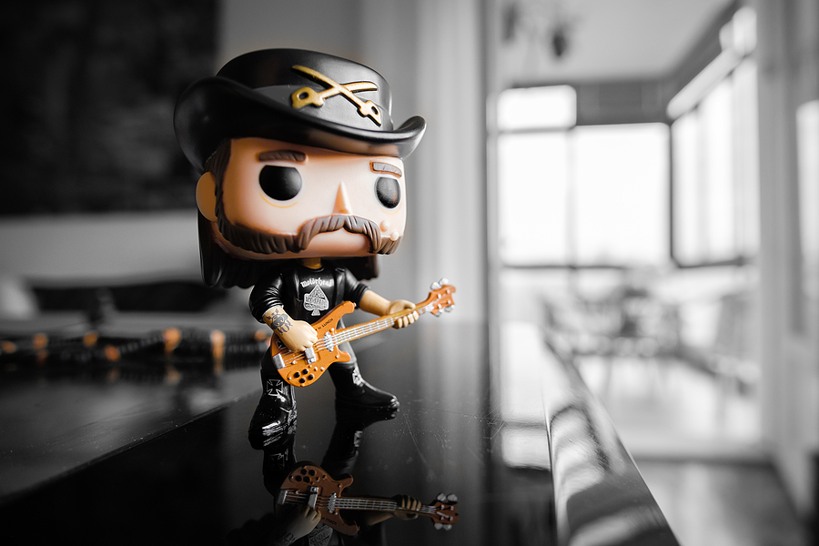 Funko Pop action figure of Lemmy Kilmister