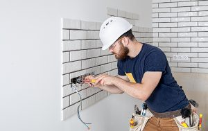Electrician while working