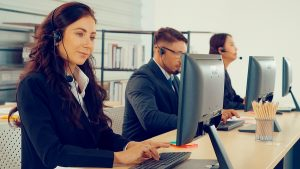 IT managed service company workers giving services remotely