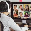 Male worker while video conferencing in Melbourne